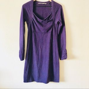Athleta long sleeve purple dress